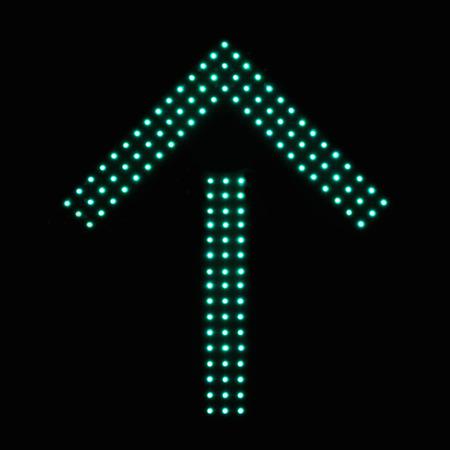 one lane roadsign: Digital Traffic Control Signal - Go Straight Stock Photo