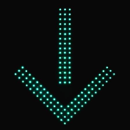 one lane roadsign: Digital traffic control signal - Use this lane