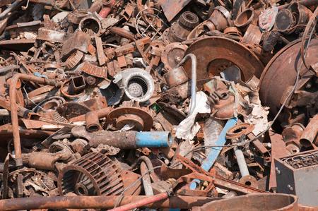 metallschrott: Große Altmetallhaufen, selektiven Fokus Lizenzfreie Bilder