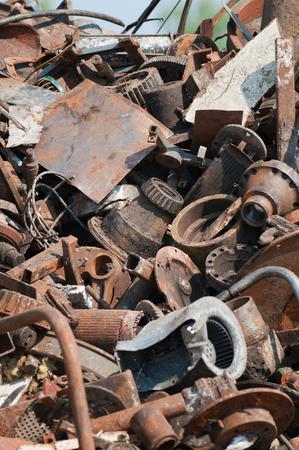 ferraille: Scrap pile m�tallique Banque d'images