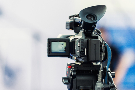 Video camera, detail from public event