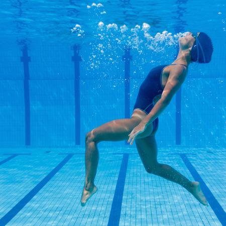 Underwater dancing figure