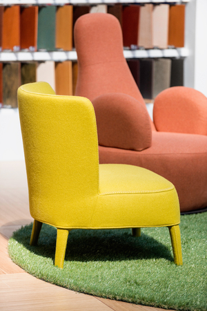 furniture store: Armchairs in furniture store Stock Photo