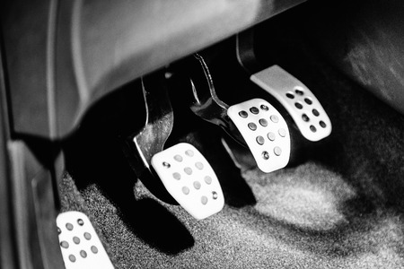 pedals: Gas, brake and clutch pedals