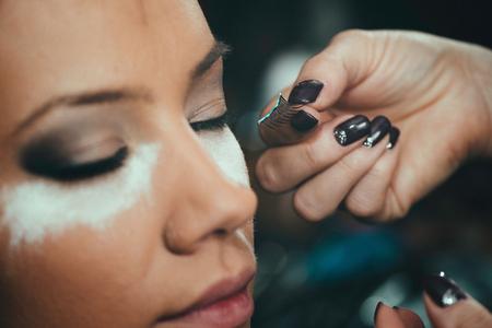 false eyelashes: False eyelashes, make-up, beauty salon, make-up artist, toned image