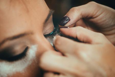 false eyelashes: False eyelashes, make-up, beauty salon