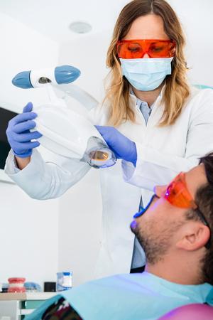 Laser bleken van tanden