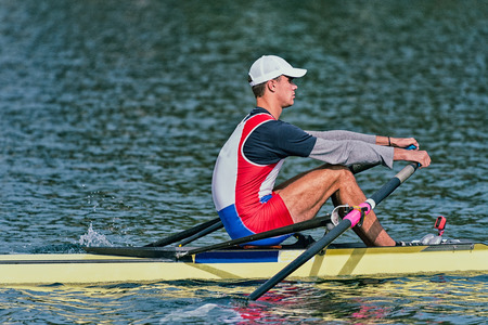 competitor: Single scull rowing competitor