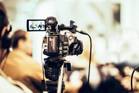 reportero: Reportero de TV Foto de archivo