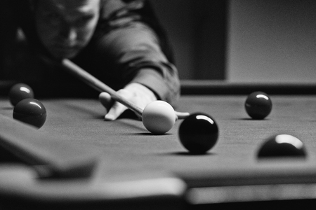 snooker hall: Snooker and pool in black and white