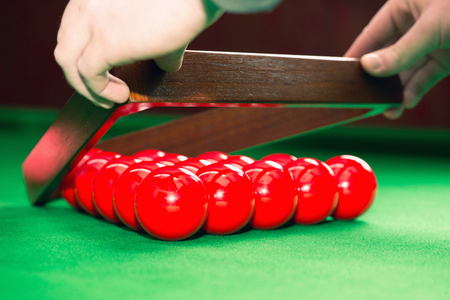 snooker hall: Racking up snooker balls