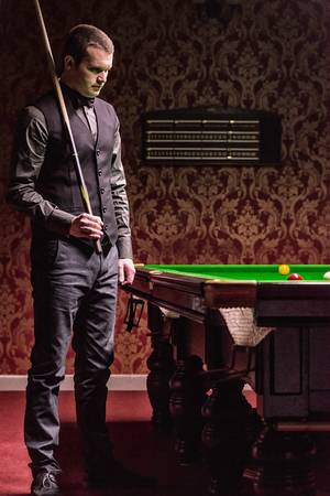 pool hall: Professional snooker player