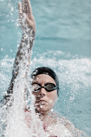backstroke: Backstroke female swimmer