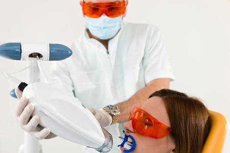 Modern teeth whitening procedure