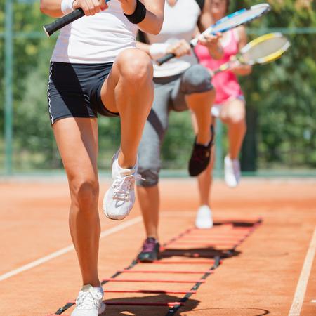 カーディオ テニス トレーニング 写真素材