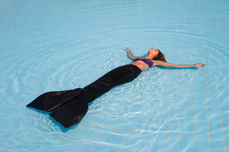 swimming costumes: mermaid in the pool