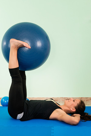 fitness ball: Exercise with fitness ball