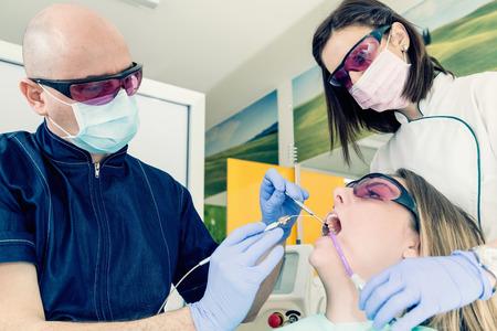 Dental surgery laser 版權商用圖片