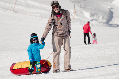 two persons only: Winter outdoor activities