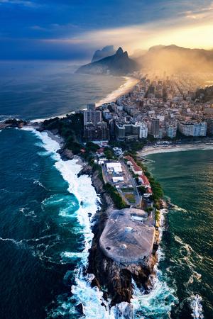 forte: Forte de Copacabana in Rio De Janeiro. Aerial view Stock Photo