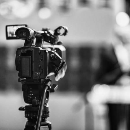 television camera: Television camera on  Press Conference