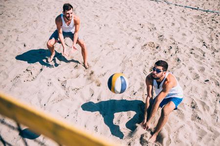 Volley-ball de plage de la concurrence Banque d'images - 61055563