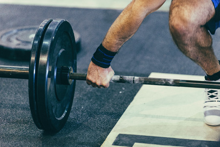 weightlifting: Weightlifting exercise Stock Photo