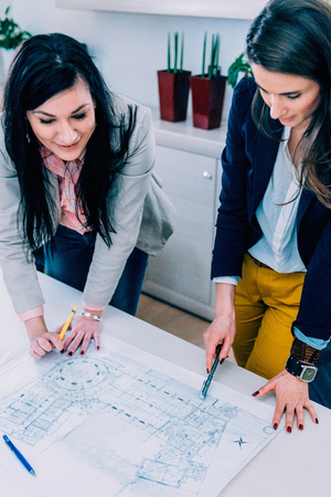 female architect: Female architect on meeting Stock Photo
