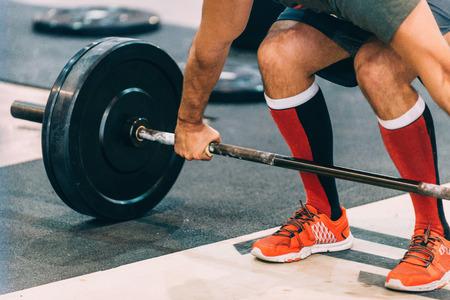 Weightlifting exercise 版權商用圖片
