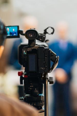 Television camera recording event