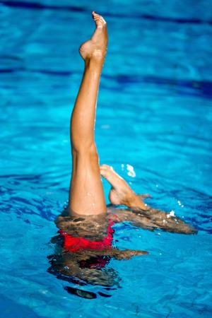 gesynchroniseerd Zwemmer