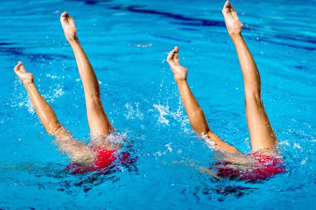 natación sincronizada: prueba de dúo de Natación Sincronizada