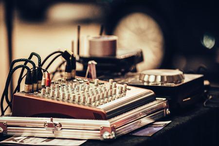 adjuster: Mixing desk Stock Photo