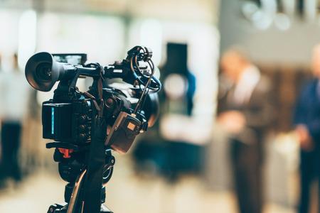 텔레비전 카메라 녹화 이벤트 스톡 콘텐츠