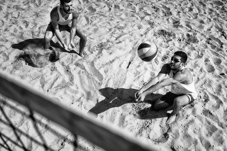 only two people: Beach Volleyball Competition