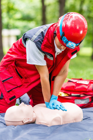 Cpr training outdoors