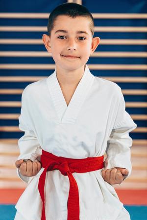 do: Portrait of tae kwon doe boy