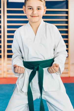 Portrait of tae kwon doe boy