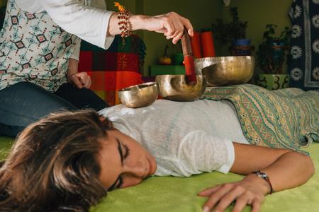 Tibetaanse klankschaal Stockfoto