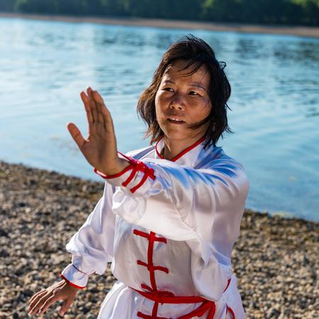 Tai Chi on lake