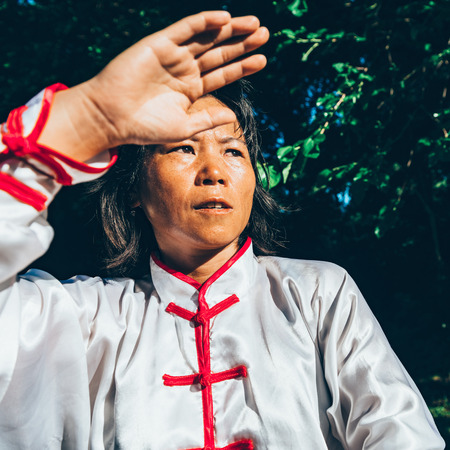 Tai Chi in forest