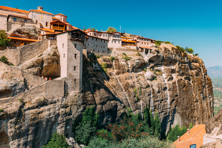 Meteora monasteries, Greece. The Monastery of Great Meteoron, the largest of the monasteries in Meteora