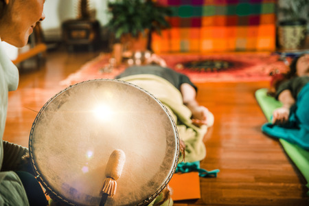 Indian drum in sound therapy 版權商用圖片
