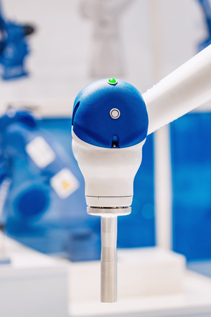 Collaborative industrial robot Motoman for electronics and automobile industries task