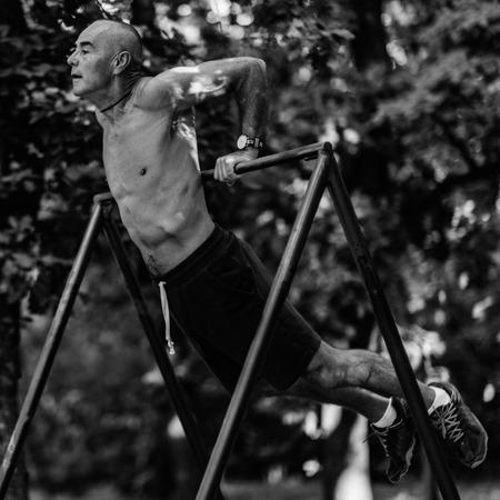 Senior exercising outdoors 写真素材