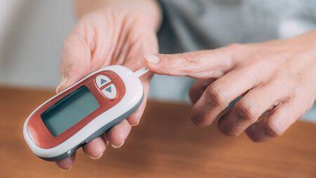 Blood Glucose Test Stock fotó