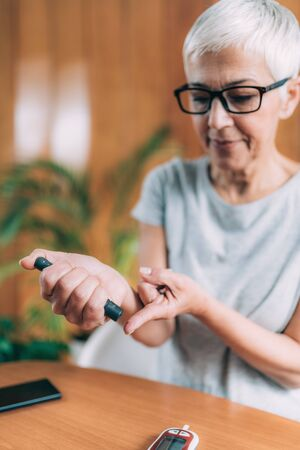 Blood Sugar Testing with Portable Glucometer