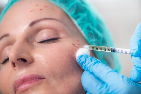 PRP Aesthetic Medicine Face Injection Treatment