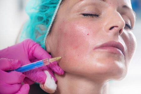 Anti-Aging Treatment. Hyaluronic injection