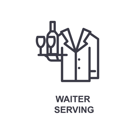 waiter serving icon